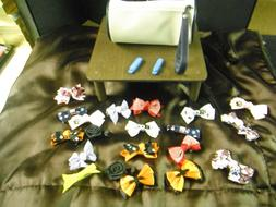 20 pcs Assorted Med Female Dod or Cat bows with Storage case