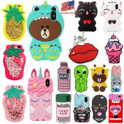 3D Silicone Animal Cartoon Thick Rubber Gel Kawaii Cover Cas