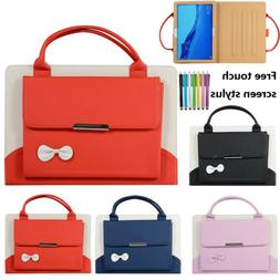 Bow Smart Case Leather Tablet Handle Stand Cover For iPad 7.