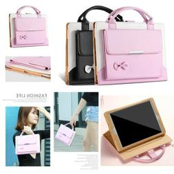 Cute Bow Portable Smart Case Leather Tablet Handle Stand Cov