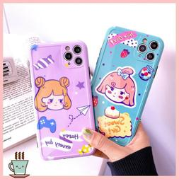 Cute Cartoon Girl Sweet Happy Bow Phone Case Cover For iPhon