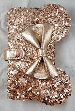 Disney Parks Rose Gold Minnie Mouse Ears Bow iPhone Case Wal