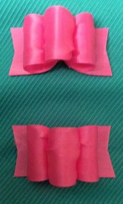 Dog Competition hair bows Hand Made stiff Fabric Made To Las