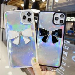 Fashion Clean Bow Soft TPU Phone Case For iPhone 11 Pro Max