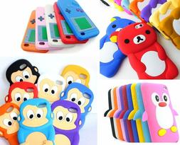 For iPod Touch 4th Gen - Soft Rubber Silicone Skin Case Cove