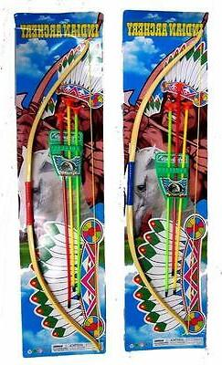 2 EXTRA LARGE NEW BOW AND COLORED ARROWS WITH CASE PLAY SET