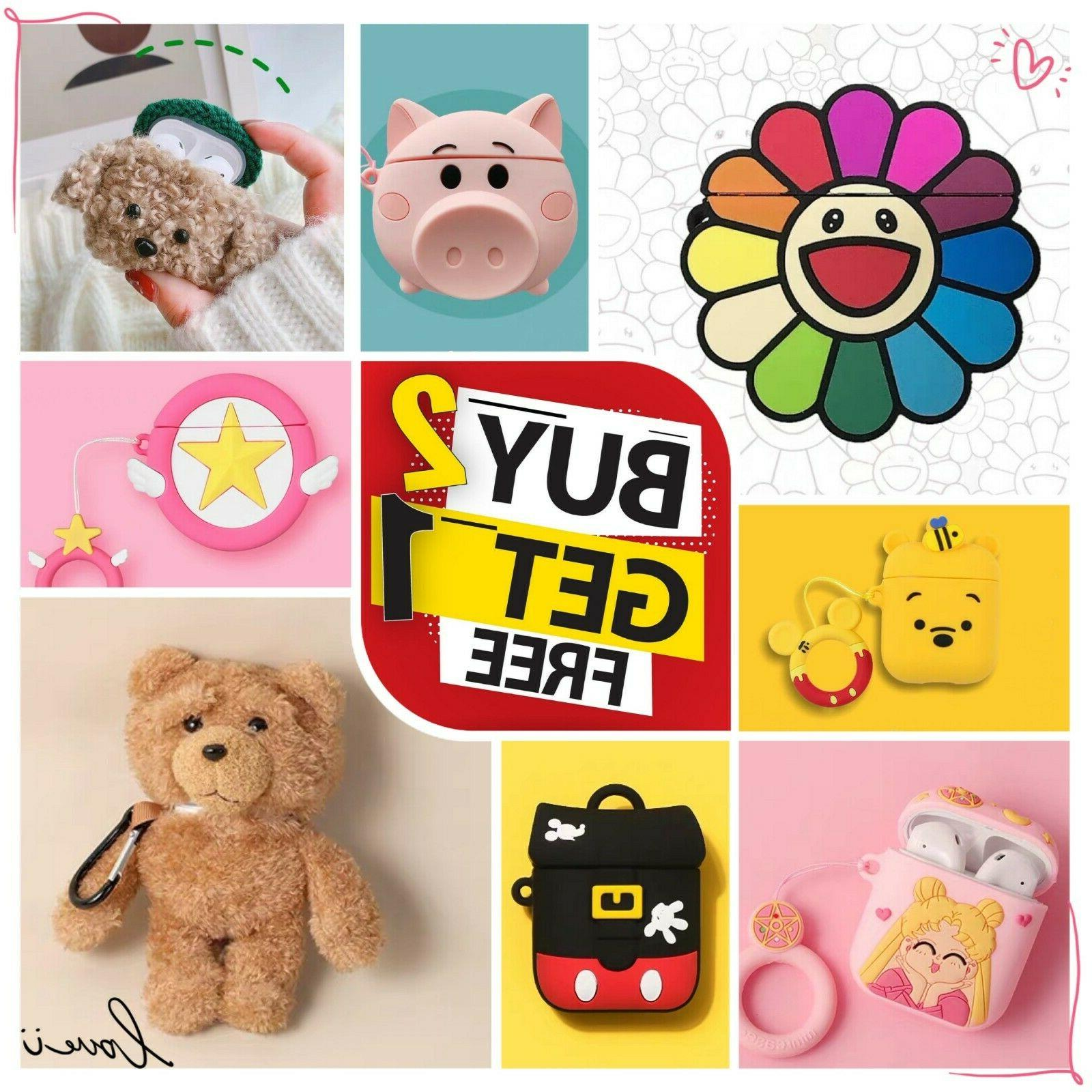 airpods case silicone protective cover cute 3d