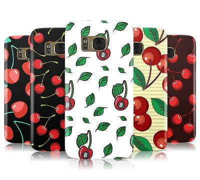 cherry print collection hard back phone case
