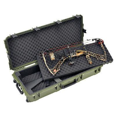 iseries double bow rifle case green 42