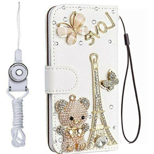 For View 1 4G Diamonds Wallet skin Cover