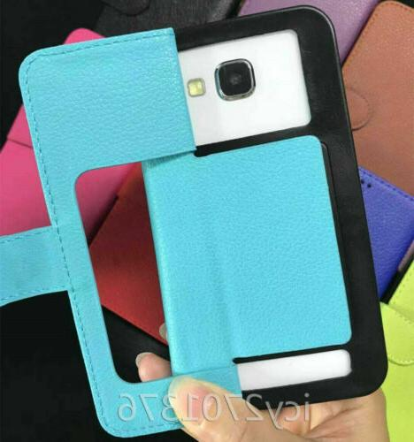 For Tracfone 1 Diamonds leather Wallet Cases skin Cover