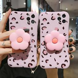 Leopard Bow Kickstand Pink Phone Case Cover For iPhone11Pro