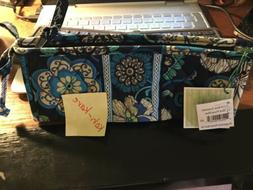 Vera Bradley Mod Floral Blue Small Bow Cosmetic Case Lined P