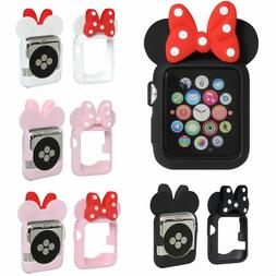 Mouse Ears Case W/ Bow Silicone Bumper 3d Cartoon Cover For