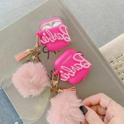 New Pink Bow Barbie Apple Airpods Case Cover For Airpods 1 &
