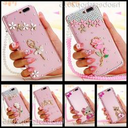 Phone Cases With 2 Glass Screen Protector films & Ncek Cryst