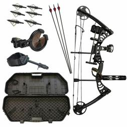 SAS Scorpii 55Lb Compound Bow Travel Package with Arrows Har