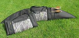 Traditional Archery Strung Bow Case Split for Quiver fully p